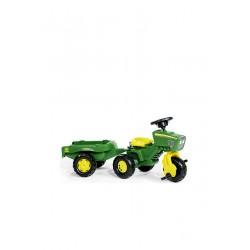 Traktor na pedały z przyczepą John Deere - Rolly Toys 052769