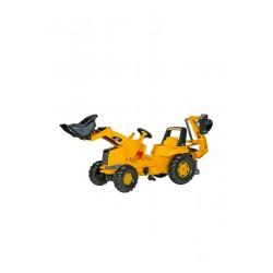 Ciągnik na pedały z ładowaczem i koparko-ładowarką CAT - Rolly Toys 813001