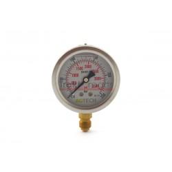 "Manometr glicerynowy Fi 63 - 1/4"" dół - 250 bar - 66785000407 - 85000407 - TraktorParts.pl - 2"